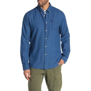 Indigo Solid Tailored Fit Shirt