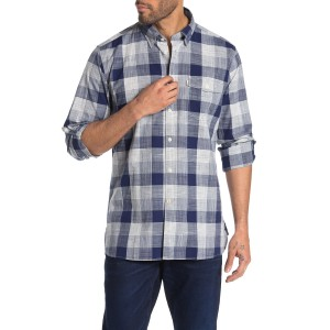 Pier Check Print Tailored Fit Shirt