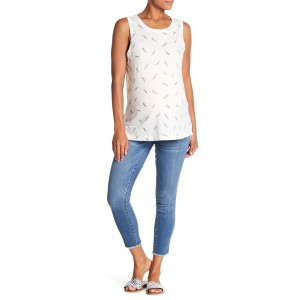 Ankle Raw Hem Skinny Jeans (Maternity)