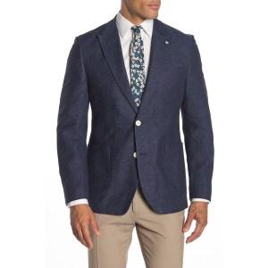 Navy Solid Two Button Notch Lapel Suit Separates Jacket