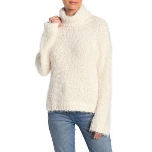 Fuzzy Knit Turtleneck Sweater