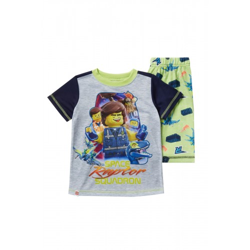 레고 LEGO Movie 2 Raptor Space Squadron Short Pajama Set (Little Boys & Big Boys)