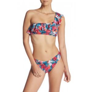 One-Shoulder Ruffle 2-Piece Bikini Set