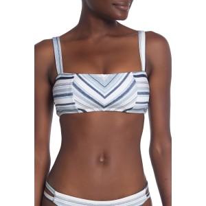 Line of Sight Striped Bikini Top
