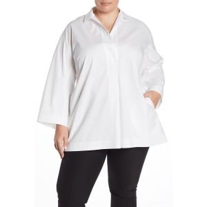Mina Pocket Blouse (Plus Size)