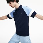 Mens L.12.12 Raglan Sleeved Pique Polo