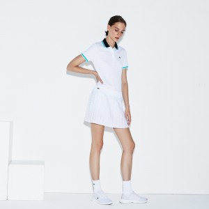 Womens Lacoste SPORT Tennis Technical Mesh Pleated Skirt