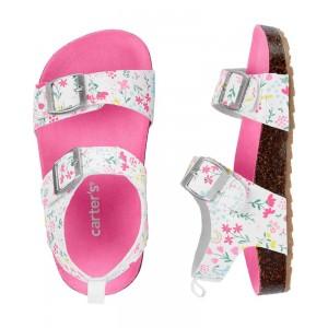 Carter's Floral Cork Sandals