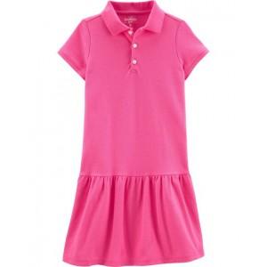 Pique Uniform Dress, Pink