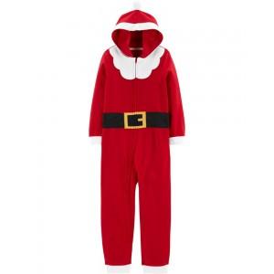 1-Piece Santa Suit Dress Up PJs