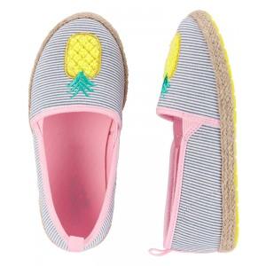 OshKosh Pineapple Slip-On Espadrilles