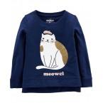 Glitter Cat Pullover