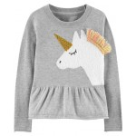 Unicorn Peplum Sweater
