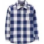 Buffalo Check Button-Front Shirt