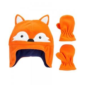 2-Piece Fox Hat & Mittens Set