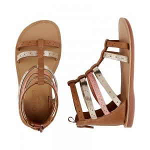 OshKosh Metallic Gladiator Sandals