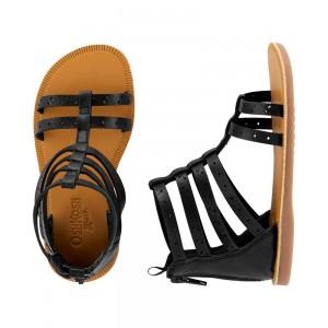 OshKosh Black Gladiator Sandals