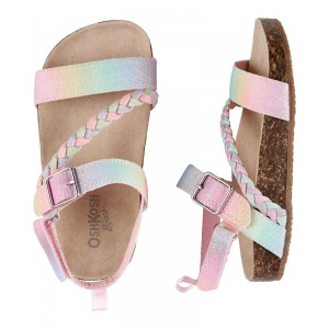 OshKosh Rainbow Buckle Sandals