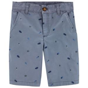 Bug Flat-Front Shorts
