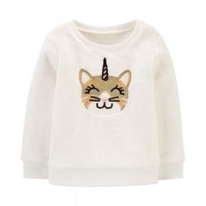 Cat Unicorn Fuzzy Sweatshirt
