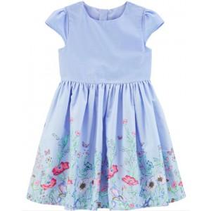 Floral Border Tea Party Dress