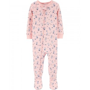 1-Piece Bunny Unicorn Cotton PJs