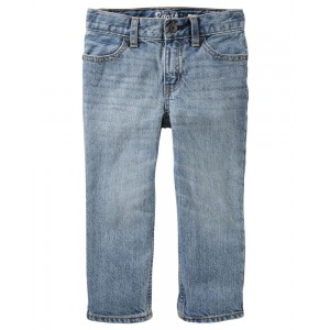 Straight Jeans - Sun Faded Light