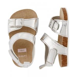 Carter's Metallic Cork Sandal Baby Shoes
