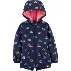 Rainbow Fleece-Lined Raincoat