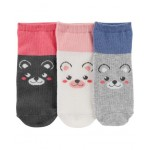 3-Pack Critter Ankle Socks