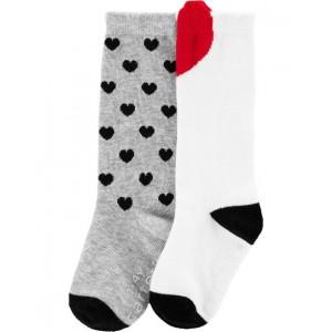 2-Pack Knee High Socks