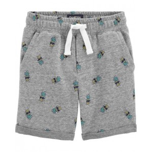 Pull-On Pineapple French Terry Shorts