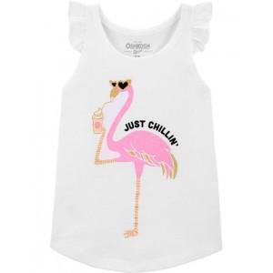 Flamingo Flutter Sleeve Top