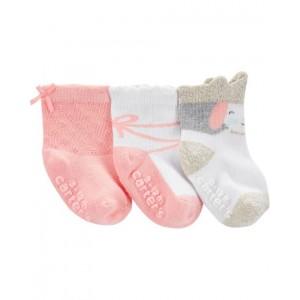 3-Pack Princess Crew Socks