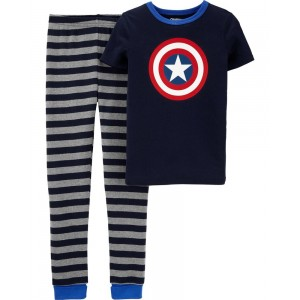 Snug Fit Captain America Cotton PJs