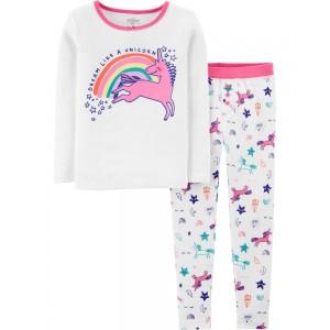 2-Piece Snug Fit Unicorn PJs