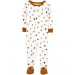1-Piece Thanksgiving 100% Snug Fit Cotton Footie PJs
