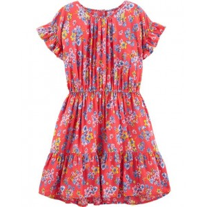 Ruffle Hem Floral Dress