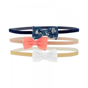 3-Pack Bow Headwraps