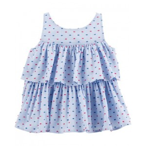 Tiered Clip Dot Top