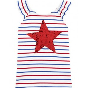 Stars  Stripes Flip Sequin Top