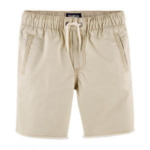 Raw Hem Pull-On Shorts, Blue