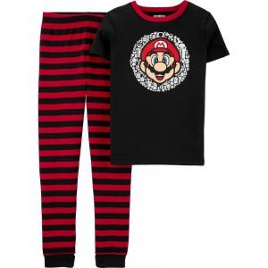 Snug Fit Super Mario Cotton PJs