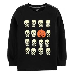 Halloween Skull Jersey Tee