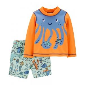 Carter's Octopus Rashguard Set