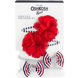 4-Pack Hair Clips  Ponytail Holders