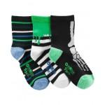 3-Pack Glow-in-the-Dark Crew Socks