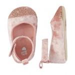 OshKosh Sparkle Velvet Flat Baby Shoes