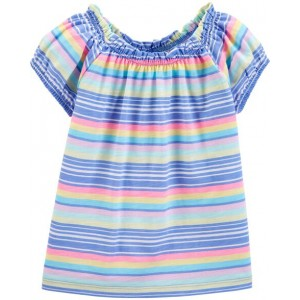 Rainbow Striped Jersey Top