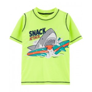 Carters Neon Shark Snack Attack Rashguard